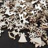 50pcs 3D in Legno Albero di Natale Lampadari Fai-Da-Te Ornamento da Appendere