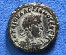 EGYPT, Alexandria. Valerian I 253-260 AD Ancient Roman provincial Egyptian coin