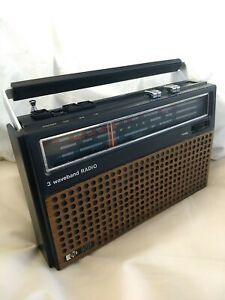 Vintage Pye 1416 3 Band Portable FM Radio AM/VHF/LW 1970s Good condition Retro