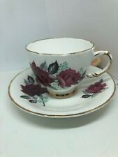 """Delphine China Made in England """" Roses"""" Tea Cup and Saucer"""