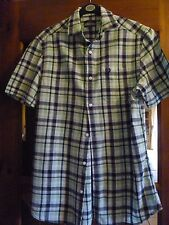 TWO MENS CHECK SHIRTS/TOPS - SIZE SMALL EXCELLENT CONDITION