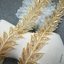 Gold Glitter Leaves Chain Wedding Dresses Sequins Patch Waist Clothing Necklaces