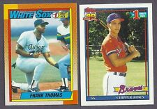 1990 1991 TOPPS LOT BASEBALL AND ALL STAR  COMPLETE YOUR SET  20 PICKS