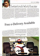 vintage JO SIFFERT (Swiss) Formula 1 F1 Grand Prix Article / Picture / Photo