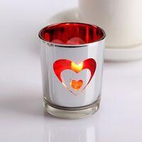 Glass Tealight Votive Candle Holders Wedding Dinner Valentine Gift Xmas Decor x1