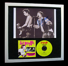 SEX PISTOLS+SIGNED+FRAMED+ROTTEN+VACANT+PUNK=100% AUTHENTIC+EXPRESS GLOBAL SHIP