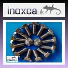 15 M6 X 12 STAINLESS STEEL A2 HEX HEXAGON HEAD SET SCREW BOLT 304 METRIC THREAD