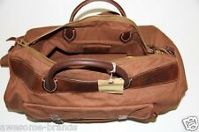 NEW RRL Ralph Lauren Canvas Manx Canvas Duffle Bag with Leather Accents