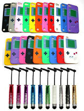 Gameboy Game Boy Silicone Case Cover for ApplE TOUCH 4 TOUCH 5 with FREE STYLUS