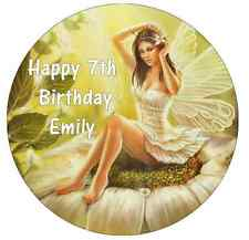 """Mythical Fairy Personalised Edible Wafer Paper Topper 7.5"""""""