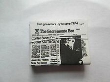 Dollhouse Miniature Sacramento Bee Tied Newspaper Bundle of 10 New in Package