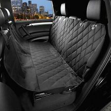 Black Pets Seat Covers For Cars With Seat belt Seat Anchor And Non-Slip Backing