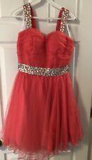 Narianna Prom Dress Size Medium Color Watermelon