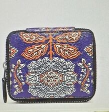 NEW! JEWELRY BOX IN FOREST FLOWER PRINT COATED CANVAS (COACH F11891) SILVER/BLUE