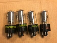 Matched Quad RCA 6V6GTA Output Tubes 1963/67 fr guitar amp test strong Clear Top