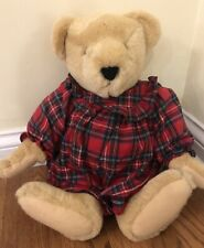 Vintage 1982 North American Bear Company Jointed 20� Dressed In Christmas Dress