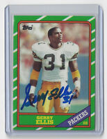 1986 PACKERS Gerry Ellis signed card Topps #215 AUTO Autographed Green Bay RB