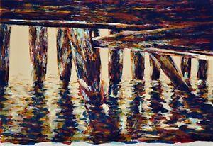 Michael POWELL Capture Light - Original Signed Screenprint Landscape Sea, Large