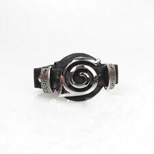 Anime Naruto Konoha Logo Leather Bracelet Wristband Cosplay Jewelry Gift Black