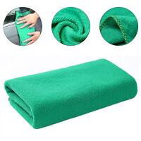Green Microfiber Car Kitchen Household Wash Cleaning Mitt Sponge  Cloth