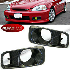 Fit 99 00 1999 2000 Honda Civic EK OE Style Carbon Fiber Painted Fog Light Cover