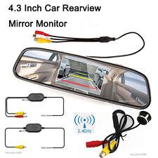 "Wireless 360° Rotatable Car Reversing Parking Camera +4.3"" LCD Mirror Screen Kit"