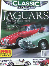 CLASSIC AND SPORTSCAR MAGAZINE FEB 1997 JAGUAR MORGAN PLUS 8 DRIVING FIATS V8 GR