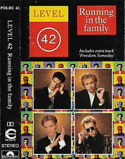 LEVEL 42 RUNNING IN THE FAMILY CASSETTE ALBUM 9TRACK extra track stated POLHC42