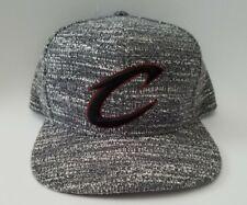 Mitchell & Ness Grey Noise NBA Cleveland Cavaliers Adjustable Snapback Hat Cap