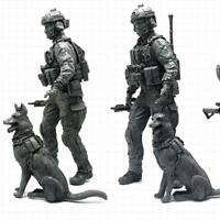 1pcs 1:35 Modern American Special Forces and Military Dogs Resin Soldier Model