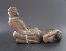 Old Chinese HongShan jade Man Woman Sexual culture Art Statue  1410g