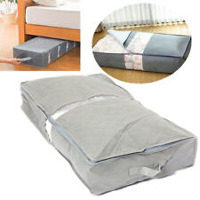 Portable Foldable Gray Under Bed Storage Bag Container Clothes Shoes Blanket Hot