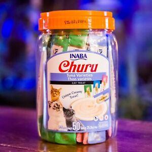 Inaba Churu - Tuna Varieties Cat Treats (50 pack) - FREE PRIORITY SHIPPING