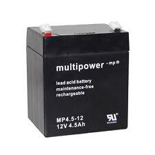 Blei-Gel Akku 12V 4,5Ah Rasenmäher Trimmer Flymo CT250 SABO ALKO Batterie Accu
