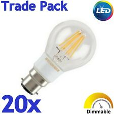 20x Sylvania 5.5W=45w B22 560lm Dimmable Clear LED Filament Light bulb WW 2700K