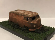 VW Panel Van 1/64 Diecast Custom Rusty Weathered Diorama Barn Find Volkswagen