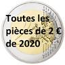Toutes les 2 euro commémorative 2020 UNC Luxembourg Lituanie Portugal Malte ...