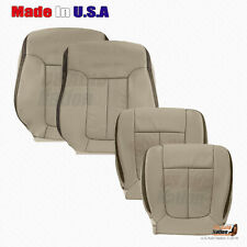 2009 2010 Ford F150 Platinum Driver Passenger Perforated Leather Seat Cover Gray
