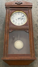 Antique Junghans German Box Clock Style Wall Clock **Must See!**
