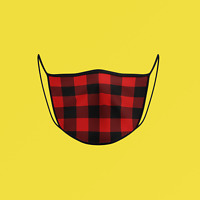 """Lumberjack Plaid"" Face Mask ** FREE SHIPPING by Canada Post Letter Mail **"