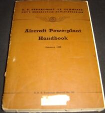 1949 Aircraft Powerplant Handbook Technical Manual No 107 Aeronautics Aviation