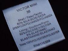 AMERICAN RETRO Black80%SilkTexturedMicroMini Size36(S) as NEW