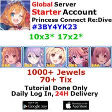 New listing [EN] Priconne! Princess Connect! Re:Dive 10x3* Starter Account 70+Tix