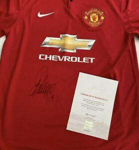 Falcao Manchester United Signed Shirt With Club Certificate