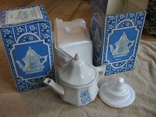 2 vintage Avon China Teapot perfumed candle holders 1970s? in original boxes
