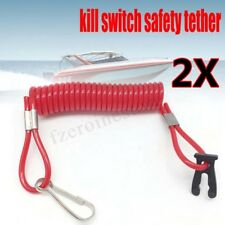 2x Outboard Engine Motor Tether Cord Lanyard Rope Boat Kill Switch For Suzuki