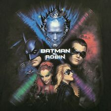 Vintage 1997 Batman & Robin Movie Poster Promo Shirt Mr. Freeze Poison Ivy XL
