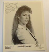 Rare Vintage Sandy Ellwanger Hand Signed AUTOGRAPH Country Western PHOTO