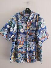 Reyn Spooner Milwaukee Brewers Baseball Hawaiian Camp Button Shirt Sz XL