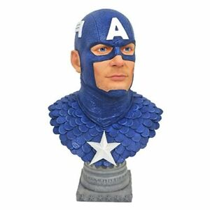 IN STOCK! Legends in 3D Marvel Captain America 1:2 Scale Bust BY DIAMOND SELECT